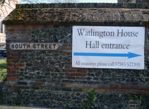 Photo of Watlington House signage by the South Street sign.